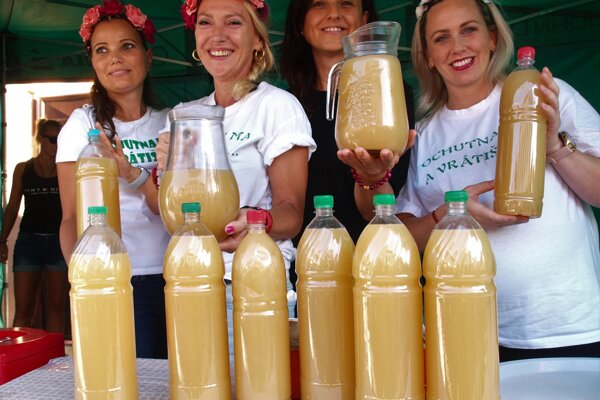 Ricj offer of burčiak, slightly fermented grape juice is a specialty offered at wine harvest festivities in Slovakia.