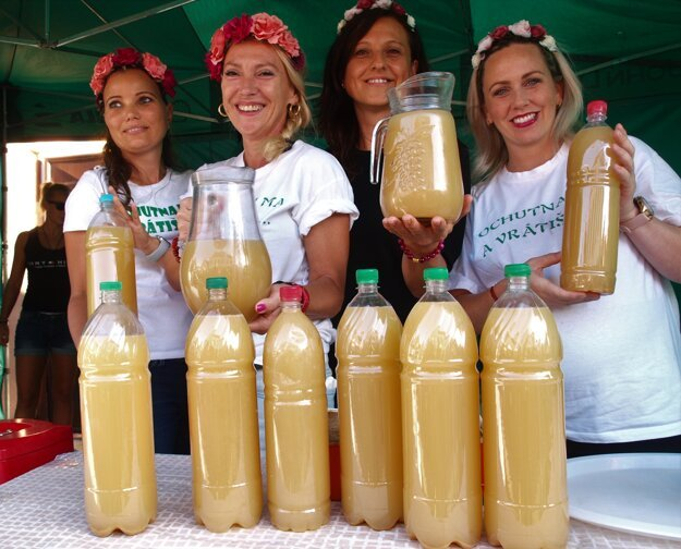 Burčiak, a slightly fermented grape juice, is a specialty offered at wine harvest festivities in Slovakia.