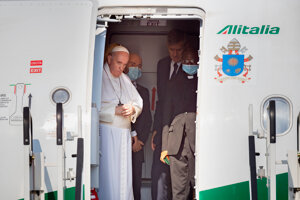 Pope Francis visits Slovakia for the first time.