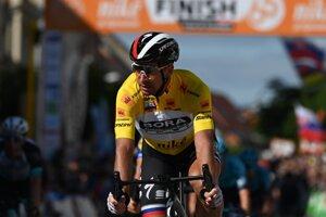 Slovak cyclist Peter Sagan at the last stage of Around Slovakia.