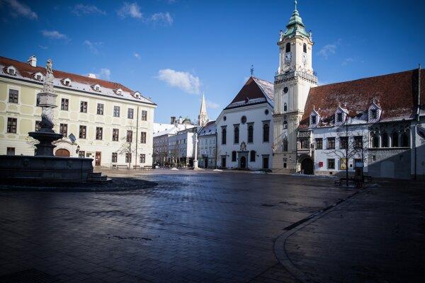 Bratislava during the lockdown, February 2021