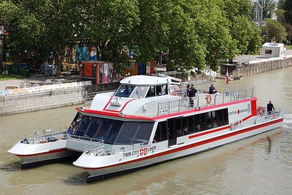 A Twin City Liner catamaran.