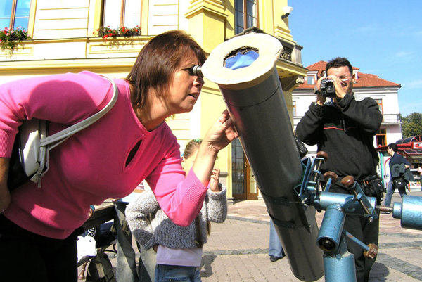 Astronomy has proved popular on Slovak streets.