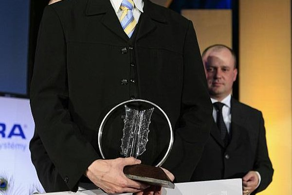 Ladislav Gažo, after being presented with his Start-Up Entrepreneur of the Year award.