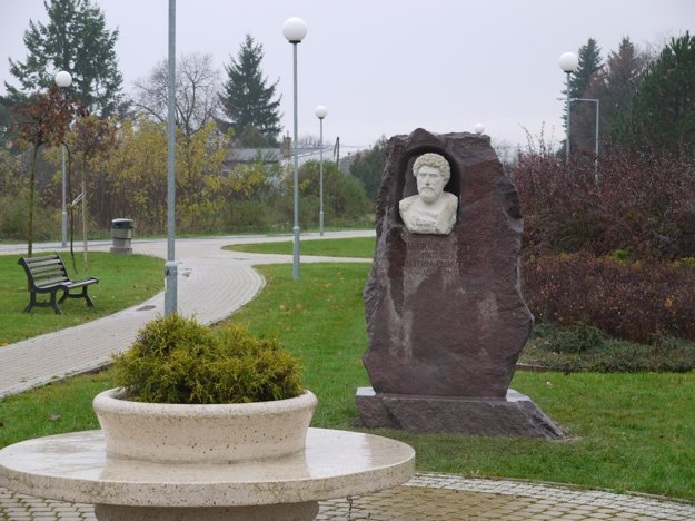 Sculpture of Marcus Aurelius in Šarovce.