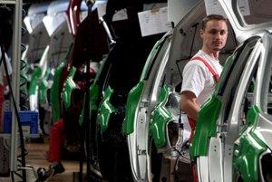 The assembly line at Kia Motors Slovakia, near Žilina.