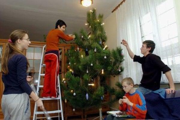 Christmas in orphan-house in Trenčín