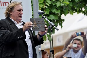 Gérard Depardieu was the main star of the festival.