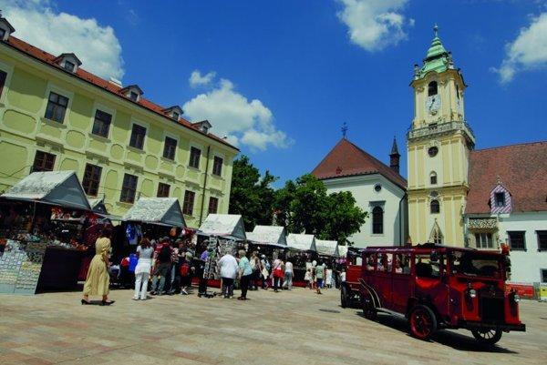 The Hlavné námestie, formerly Bratislava's main marketplace