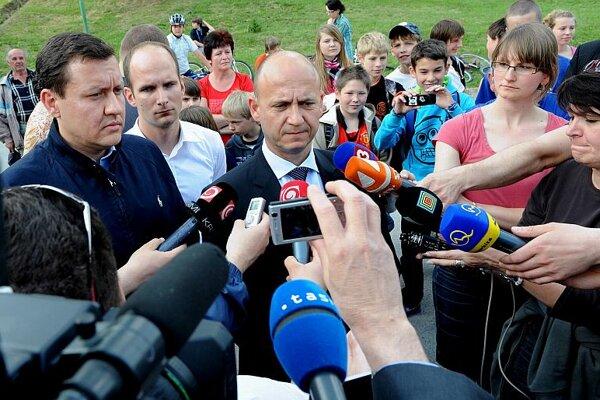 Minister Lipšic and Police Corps President Spišiak.