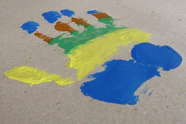 A handprint.