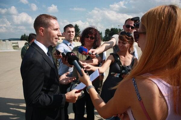 British Ambassador Andrew Garth during a press briefing.