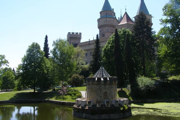 Many tourists visit Bojnice Castle and its nearby zoo.