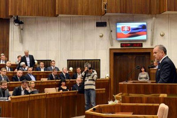 President Kiska in parliament