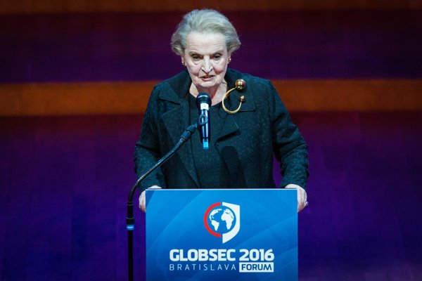 Madeleine Albright at Globsec 2016.