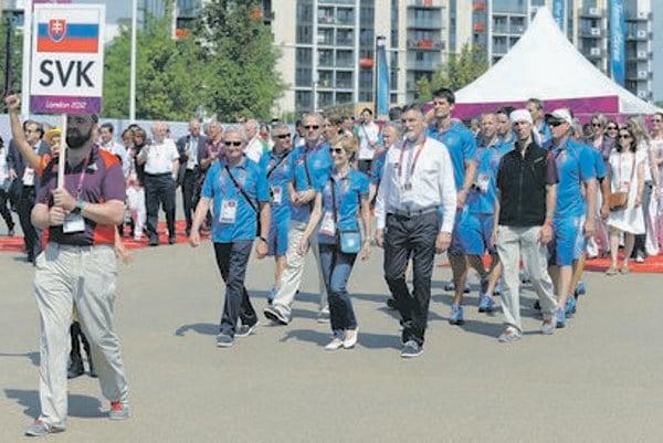 The Slovak Olympic team arrives in London.