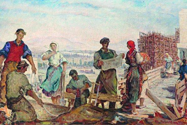 Martin Benka's painting Past and Present, 1952,