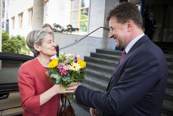 Two potential UN secertary-general candisates: UNESCO head Irina Bokova (L) and Slovak Foreign Minister Miroslav Lajčák.
