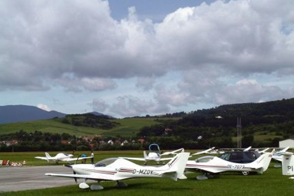 A few Slovak-made ultra-light aircrafts.