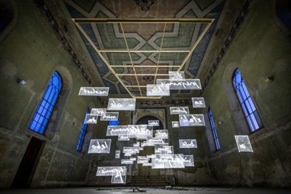Daniel Fischer's work in the At Home Gallery in Šamorín