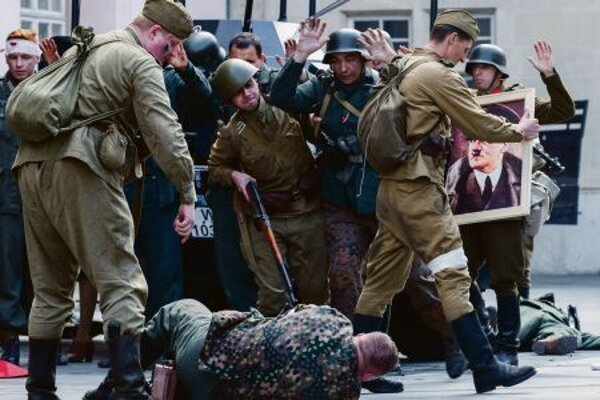 World War II battles were re-enacted in Bratislava onMay8 (Victory in Europe Day).
