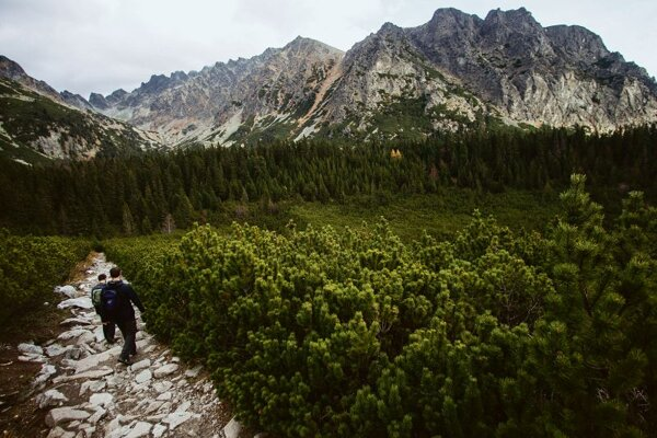 An app helps in not getting lost in the High Tatras.