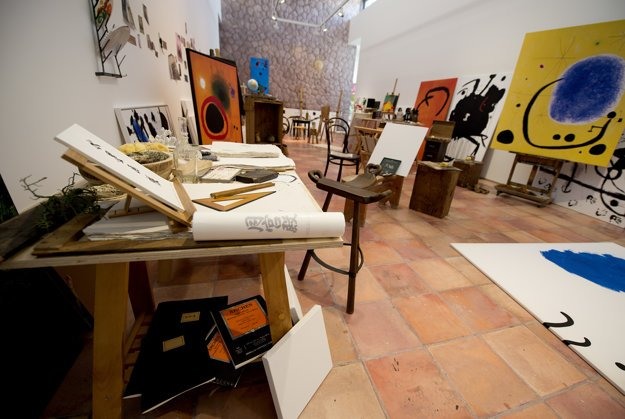 Replica of Joan Miró's studio in Mallorc,a re-made in Danubiana