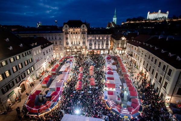Christmas market in Bratislava, older edition
