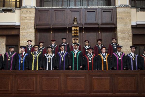Academic Senate of the Comenius University, Rector Karol Mičieta centre back.
