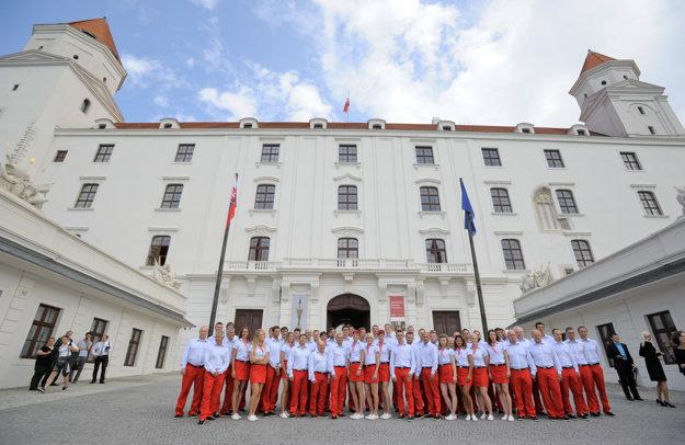 Slovak Olympic team at an audience woth Slovak President Andrej Kiska, July 23, 2016.