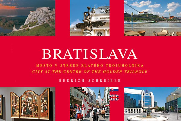 The jacket of book about Bratislava