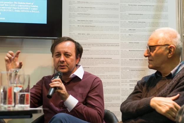 Peter Karpinský (l) and Pavel Vilikovský