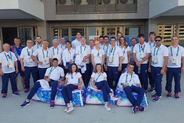 Slovak athletes raised the Slovak flag in Olympic village.