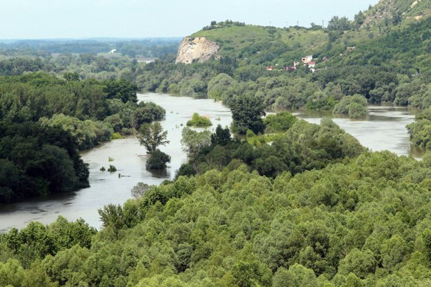 Morava River, illustrative stock photo.