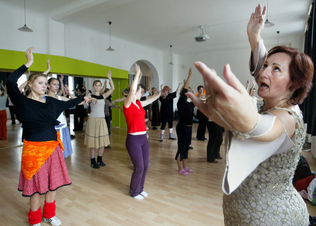 Belly Dance in English Mondays, illustrative stock photo.
