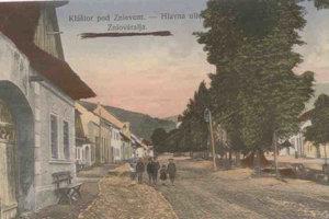 Kláštor pod Znievom in an old postcard.