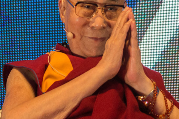 The 14th Dalai Lama at the Bratislava lecture.