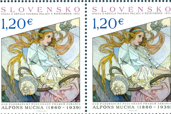 The Best Printed Stamp - Umenie: Alfons Mucha
