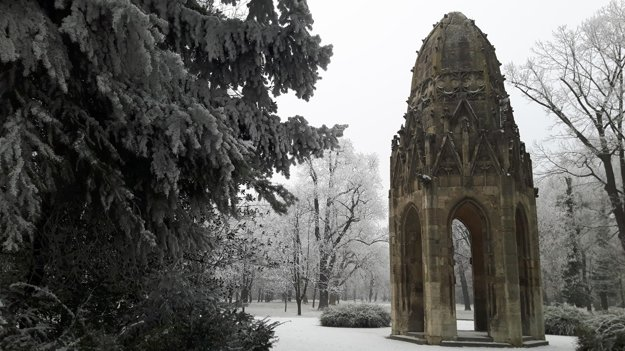 The surviving part of a gothic tower moved to the Sad Janka Kráľa Park from the Franciscan Church, located in the historical centre, which was partly destroyed by an earthquake in 1897. The Park was established in 1774-76 as one of the first public parks in central Europe and  is located just across the Danube from Bratislava's historical centre.