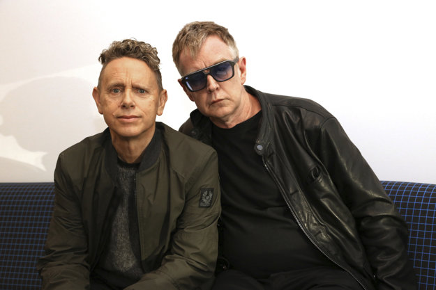 Martin Gore and Andy Fletcher, members of the group Depeche Mode