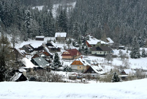 Snow in central Slovakia