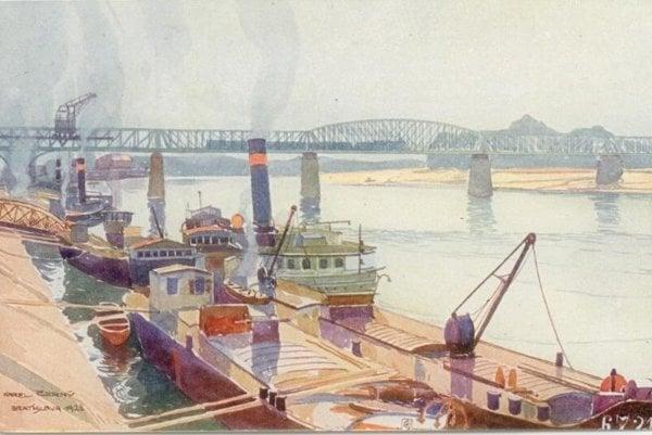 The Old Bratislava Bridge