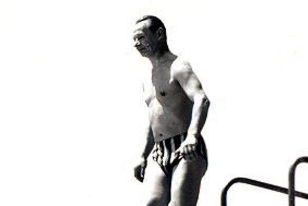 Alexander Dubček enjoys summer of 1968 in Santovka in this vintage photo.