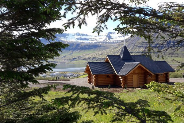 The church from Slovakia in the Icelandic town of Reydarfjordur.