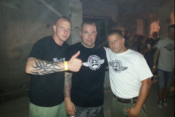 ĽSNS candidate for MP Rastislav Rogel during alleged neo-Nazi event in former cattle farm