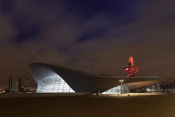 Aquatics Centre in London by Zaha Hadid