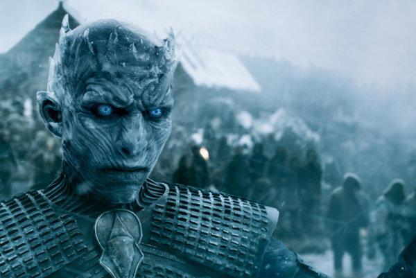 Vladimír Furdík masked as the Night King in the Game of Thrones