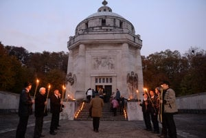 The Andrássy Mausoleum on a commemorative event.