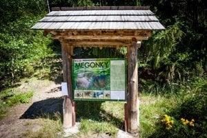 Megoňky information board in Kysuce