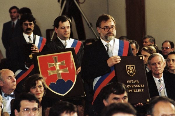 Slovak Constitution was ceremonially signed September 3, 1992, in the Knights Hall of the Bratislava Castle.